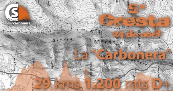 mapa carbonerilla y carbonera cresta